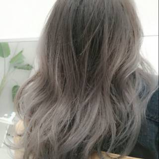 アッシュ グラデーションカラー パンク 黒髪 ヘアスタイルや髪型の写真・画像