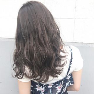 ミルクティー アッシュ 黒髪 ハイライト ヘアスタイルや髪型の写真・画像