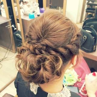 ルーズ ヘアアレンジ お祭り 夏 ヘアスタイルや髪型の写真・画像