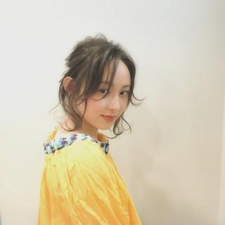 黒髪 女子会 ガーリー リラックス ヘアスタイルや髪型の写真・画像