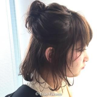 ルーズ 簡単ヘアアレンジ ヘアアレンジ ストリート ヘアスタイルや髪型の写真・画像