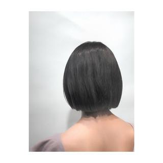 秋 グレー グレージュ ボブ ヘアスタイルや髪型の写真・画像