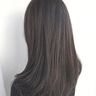 グレージュ ナチュラル 春 ミディアム ヘアスタイルや髪型の写真・画像