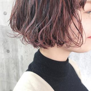 小顔ショート ピンクラベンダー ラベンダーアッシュ ラベンダーピンク ヘアスタイルや髪型の写真・画像