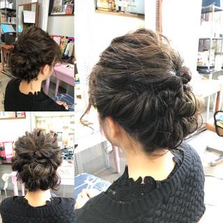結婚式 上品 ボブ 謝恩会 ヘアスタイルや髪型の写真・画像