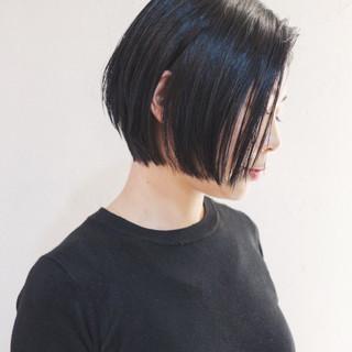 大人女子 モード 黒髪 マニッシュ ヘアスタイルや髪型の写真・画像