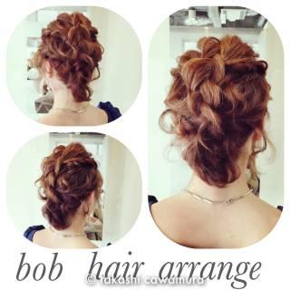 コンサバ ボブ 編み込み ツイスト ヘアスタイルや髪型の写真・画像