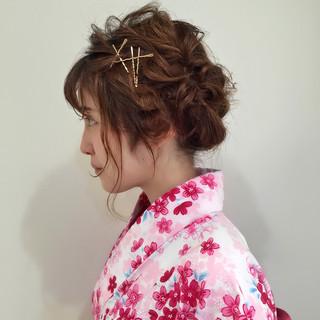 ゆるふわ 簡単ヘアアレンジ ピュア ショート ヘアスタイルや髪型の写真・画像