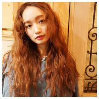 ストリート ロング 外国人風 アッシュ ヘアスタイルや髪型の写真・画像