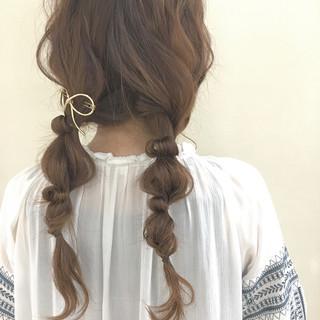 フェミニン デート 大人かわいい ゆるふわ ヘアスタイルや髪型の写真・画像
