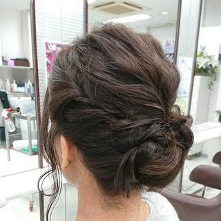 結婚式ヘアアレンジ ナチュラル ミディアム 大人女子 ヘアスタイルや髪型の写真・画像