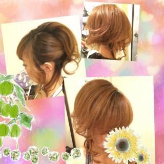 ルーズ アップスタイル ヘアアレンジ 結婚式 ヘアスタイルや髪型の写真・画像