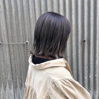 ストリート 切りっぱなし スモーキーカラー 外ハネ ヘアスタイルや髪型の写真・画像
