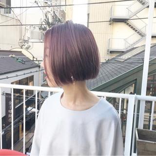ピンクバイオレット ラズベリーピンク ラベンダーピンク ピンクラベンダー ヘアスタイルや髪型の写真・画像