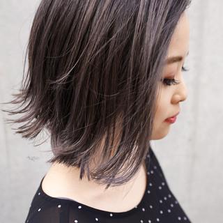 ハイライト バレイヤージュ 外国人風カラー 外ハネボブ ヘアスタイルや髪型の写真・画像