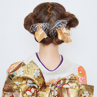 フェミニン ヘアアレンジ 簡単ヘアアレンジ ミディアム ヘアスタイルや髪型の写真・画像