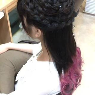 波ウェーブ ヘアアレンジ フェミニン ロング ヘアスタイルや髪型の写真・画像