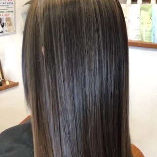 オフィス ナチュラル 外国人風カラー バレイヤージュ ヘアスタイルや髪型の写真・画像