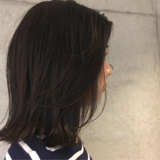 アッシュ 暗髪 黒髪 色気 ヘアスタイルや髪型の写真・画像