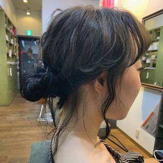 ニュアンスヘア セミロング 外国人風カラー ナチュラル ヘアスタイルや髪型の写真・画像
