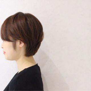 フェミニン ショート ボブ ゆるふわ ヘアスタイルや髪型の写真・画像