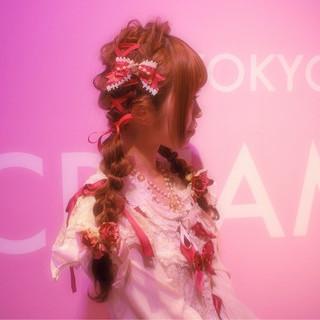 ロング フェミニン かわいい ガーリー ヘアスタイルや髪型の写真・画像