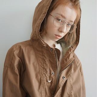 透明感 ショート 簡単ヘアアレンジ ナチュラル ヘアスタイルや髪型の写真・画像