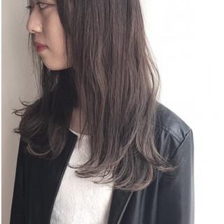 外国人風 ストリート 暗髪 セミロング ヘアスタイルや髪型の写真・画像