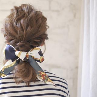 セミロング パーティ 簡単ヘアアレンジ 結婚式 ヘアスタイルや髪型の写真・画像