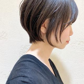黒髪 ショートボブ ショート ショートヘア ヘアスタイルや髪型の写真・画像