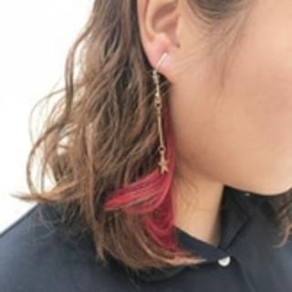 ボブ ナチュラル 外国人風 ピンク ヘアスタイルや髪型の写真・画像