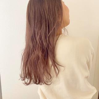 ピンクラベンダー ロング ゆるふわ 大人かわいい ヘアスタイルや髪型の写真・画像