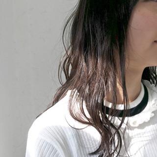 アッシュベージュ 原宿系 グラデーションカラー ナチュラル ヘアスタイルや髪型の写真・画像
