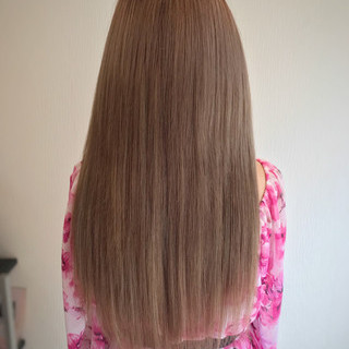 エクステ デート ロング ガーリー ヘアスタイルや髪型の写真・画像
