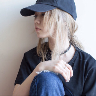 外国人風 ストリート ハイトーン 金髪 ヘアスタイルや髪型の写真・画像