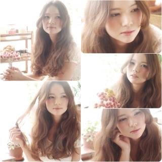 大人かわいい パーマ モテ髪 コンサバ ヘアスタイルや髪型の写真・画像