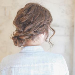 ゆるふわ 簡単ヘアアレンジ ロング 大人かわいい ヘアスタイルや髪型の写真・画像