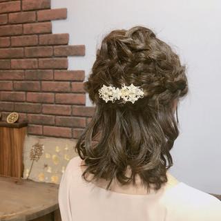 結婚式 フェミニン デート ヘアアレンジ ヘアスタイルや髪型の写真・画像