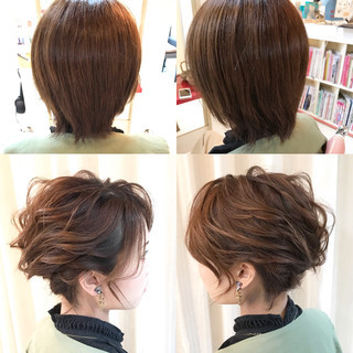 ヘアアレンジ ナチュラル 大人かわいい ショート ヘアスタイルや髪型の写真・画像 ヘアスタイルや髪型の写真・画像