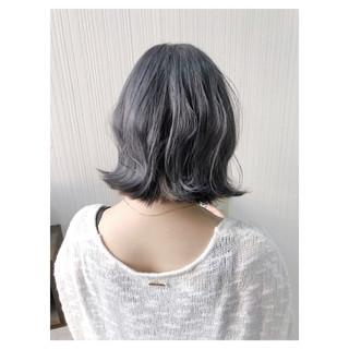 ヘアアレンジ デート ミディアム 外国人風カラー ヘアスタイルや髪型の写真・画像