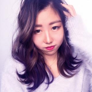 ミディアム グラデーションカラー パーマ 外国人風 ヘアスタイルや髪型の写真・画像