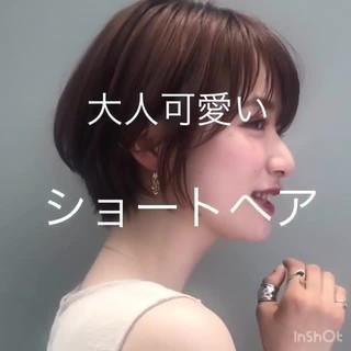 アンニュイほつれヘア ショート デート アウトドア ヘアスタイルや髪型の写真・画像
