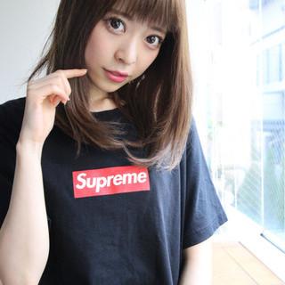 美シルエット ひし形 外国人風カラー フェミニン ヘアスタイルや髪型の写真・画像