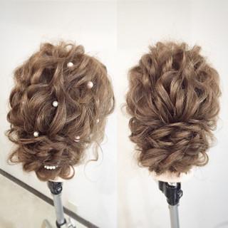 ロープ編み 大人かわいい ゆるふわ ヘアアレンジ ヘアスタイルや髪型の写真・画像