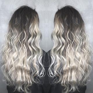 外国人風カラー アンニュイほつれヘア ロング ストリート ヘアスタイルや髪型の写真・画像