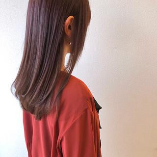 バイオレットカラー 大人ロング パープルカラー ロング ヘアスタイルや髪型の写真・画像