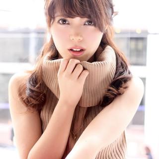 秋 ヘアアレンジ ロング モテ髪 ヘアスタイルや髪型の写真・画像
