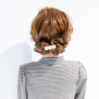 ロング オフィス デート 簡単ヘアアレンジ ヘアスタイルや髪型の写真・画像