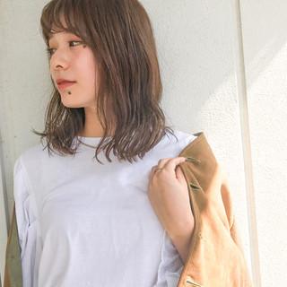 ミディアム ボブ ヘアアレンジ 透明感 ヘアスタイルや髪型の写真・画像