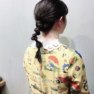 パープルアッシュ 簡単ヘアアレンジ 結婚式ヘアアレンジ ナチュラル ヘアスタイルや髪型の写真・画像